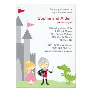 """Invitaciones del cumpleaños de la princesa y del invitación 5"""" x 7"""""""