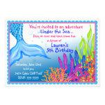 Invitaciones del cumpleaños de la sirena
