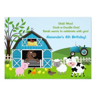 Invitaciones del cumpleaños de los animales del anuncios