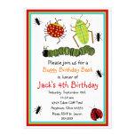 Invitaciones del cumpleaños de los insectos