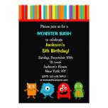 Invitaciones del cumpleaños de los monstruos anuncio