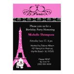 Invitaciones del cumpleaños de París de la torre Anuncio