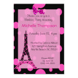 Invitaciones del cumpleaños de París de la torre Anuncio Personalizado