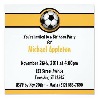 Invitaciones del cumpleaños del amarillo/del oro invitaciones personalizada
