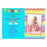 Invitaciones del cumpleaños del arco iris comunicados personales