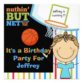 Invitaciones del cumpleaños del baloncesto del muc invitaciones personalizada