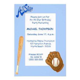 Invitaciones del cumpleaños del béisbol