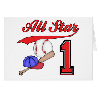 Invitaciones del cumpleaños del béisbol de All Sta Tarjeta Pequeña