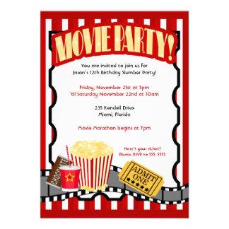 Invitaciones del cumpleaños del billete de grupo d
