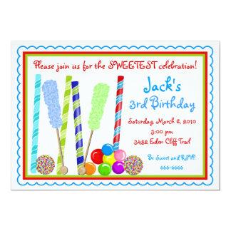 Invitaciones del cumpleaños del caramelo invitacion personalizada