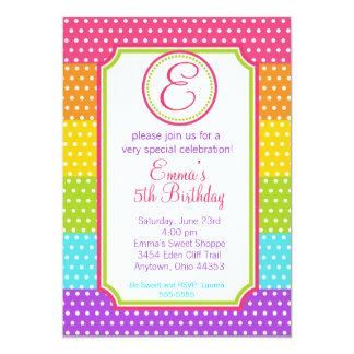 Invitaciones del cumpleaños del caramelo del invitacion personal
