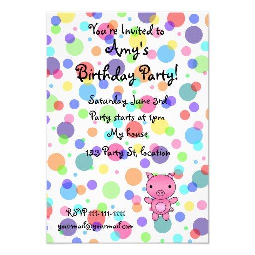 Invitaciones del cumpleaños del cerdo anuncios