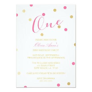 Invitaciones del cumpleaños del confeti del brillo invitación 12,7 x 17,8 cm