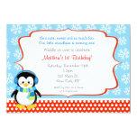 Invitaciones del cumpleaños del copo de nieve del invitacion personal