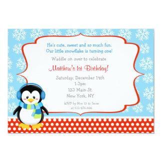Invitaciones del cumpleaños del copo de nieve del invitación 12,7 x 17,8 cm