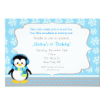 Invitaciones del cumpleaños del copo de nieve del comunicados personalizados