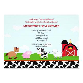 """Invitaciones del cumpleaños del corral de la invitación 5"""" x 7"""""""