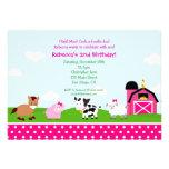 Invitaciones del cumpleaños del corral de la granj