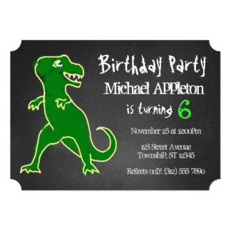 Invitaciones del cumpleaños del dinosaurio de anuncios