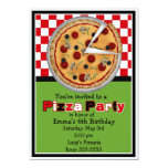 Invitaciones del cumpleaños del fiesta de la pizza anuncio personalizado