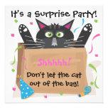 Invitaciones del cumpleaños del fiesta de sorpresa anuncio personalizado