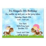 Invitaciones del cumpleaños del fiesta del potro comunicados personales