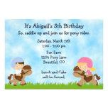 Invitaciones del cumpleaños del fiesta del potro p comunicados personalizados
