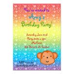 Invitaciones del cumpleaños del mono invitación 12,7 x 17,8 cm