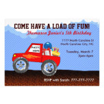 Invitaciones del cumpleaños del monster truck
