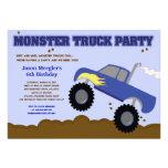 Invitaciones del cumpleaños del MONSTER TRUCK 5x7