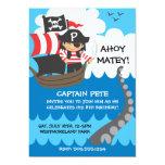 Invitaciones del cumpleaños del niño del pirata anuncios personalizados