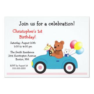 Invitaciones del cumpleaños del niño lindo de los invitaciones personalizada