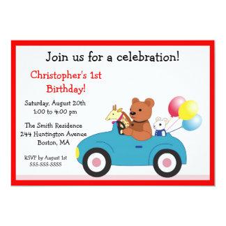 Invitaciones del cumpleaños del niño lindo de los invitaciones personales