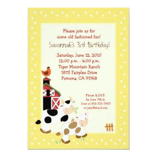 Invitaciones del cumpleaños del país del corral de invitaciones personales
