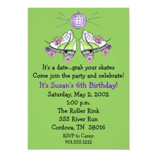"""Invitaciones del cumpleaños del patín de ruedas invitación 5"""" x 7"""""""