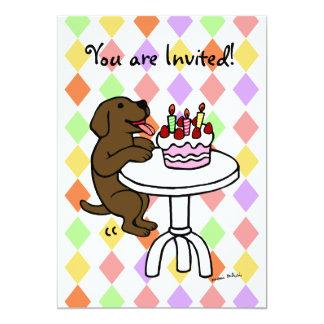 """Invitaciones del cumpleaños del perrito del invitación 5"""" x 7"""""""