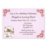 Invitaciones del cumpleaños del perro de perrito comunicado personal