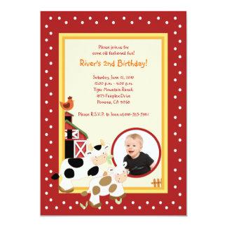 Invitaciones del cumpleaños del *PHOTO* del corral Invitacion Personal