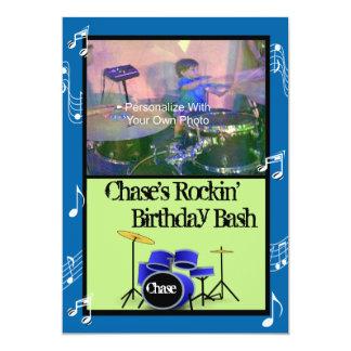 Invitaciones del cumpleaños del tema de la música invitación 12,7 x 17,8 cm