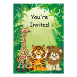 Invitaciones del cumpleaños del tema de la selva comunicado personal