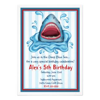 Invitaciones del cumpleaños del tiburón invitacion personal