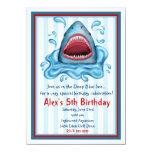 Invitaciones del cumpleaños del tiburón invitación 11,4 x 15,8 cm