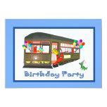 Invitaciones del cumpleaños del tranvía de New Invitaciones Personalizada