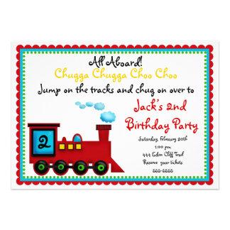 Invitaciones del cumpleaños del tren