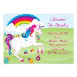 Invitaciones del cumpleaños del unicornio del arco invitación