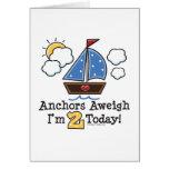 Invitaciones del cumpleaños del velero Aweigh de l Felicitación