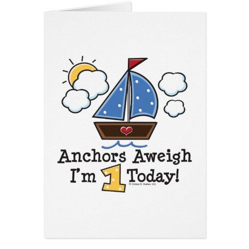 Invitaciones del cumpleaños del velero Aweigh de l Felicitaciones