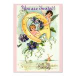 Invitaciones del cumpleaños del vintage comunicado personalizado
