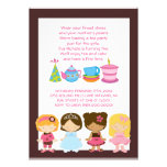 Invitaciones del cumpleaños o de la fiesta del té