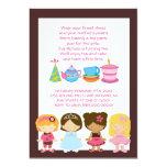 Invitaciones del cumpleaños o de la fiesta del té anuncio